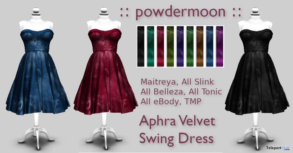 Aphra Velvet Swing Dress Promo by powdermoon - Teleport Hub - teleporthub.com