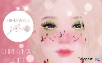 Christmas Face Tattoo 1L Promo Gift by Himawari - Teleport Hub - teleporthub.com