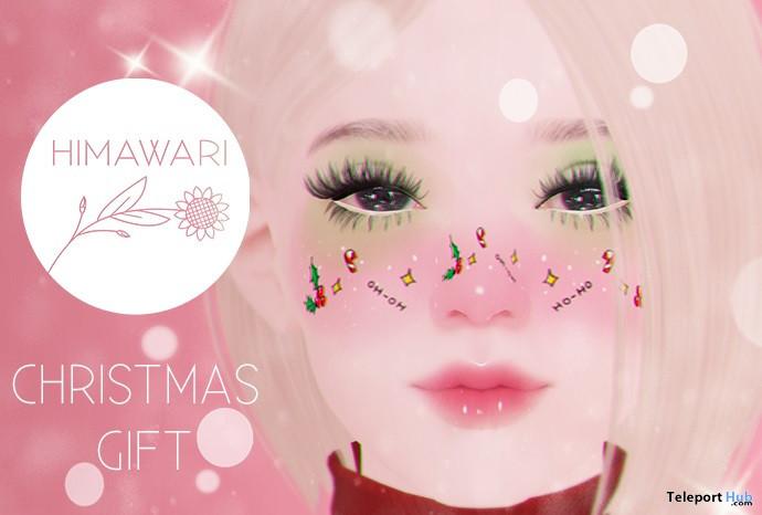 Christmas Face Tattoo 1L Promo Gift by Himawari - Teleport Hub - teleporthub.com