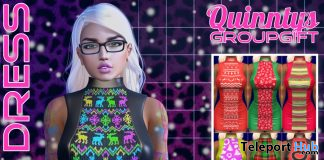 Carol Dress Fatpack December 2019 Group Gift by Quinnty's - Teleport Hub - teleporthub.com