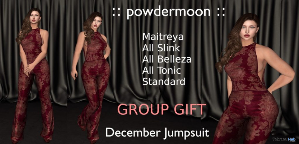 Jumpsuit December 2019 Group Gift by powdermoon - Teleport Hub - teleporthub.com