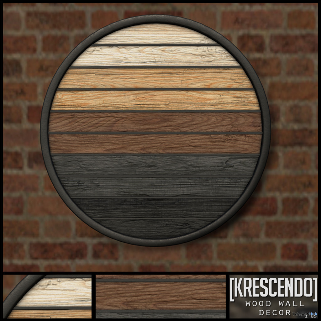 Wood Wall Decor December 2019 Subscriber Gift by [Krescendo] - Teleport Hub - teleporthub.com
