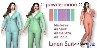 Linen Jacket and Pants Suit Promo by powdermoon - Teleport Hub - teleporthub.com