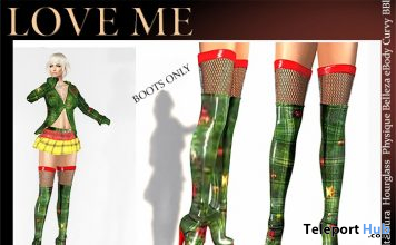 Xmas 2019 Boots December 2019 Group Gift by Love Me - Teleport Hub - teleporthub.com