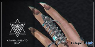 Krampus Bento Ring December 2019 Group Gift by Psycho Barbie - Teleport Hub - teleporthub.com