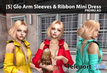 New Release: [S] Glo Arm Sleeves & Ribbon Mini Dress by [satus Inc] - Teleport Hub - teleporthub.com