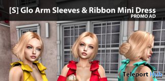 New Release: [S] Glo Arm Sleeves & Ribbon Mini Dress by [satus Inc] - Teleport Hub - teleporthub.com