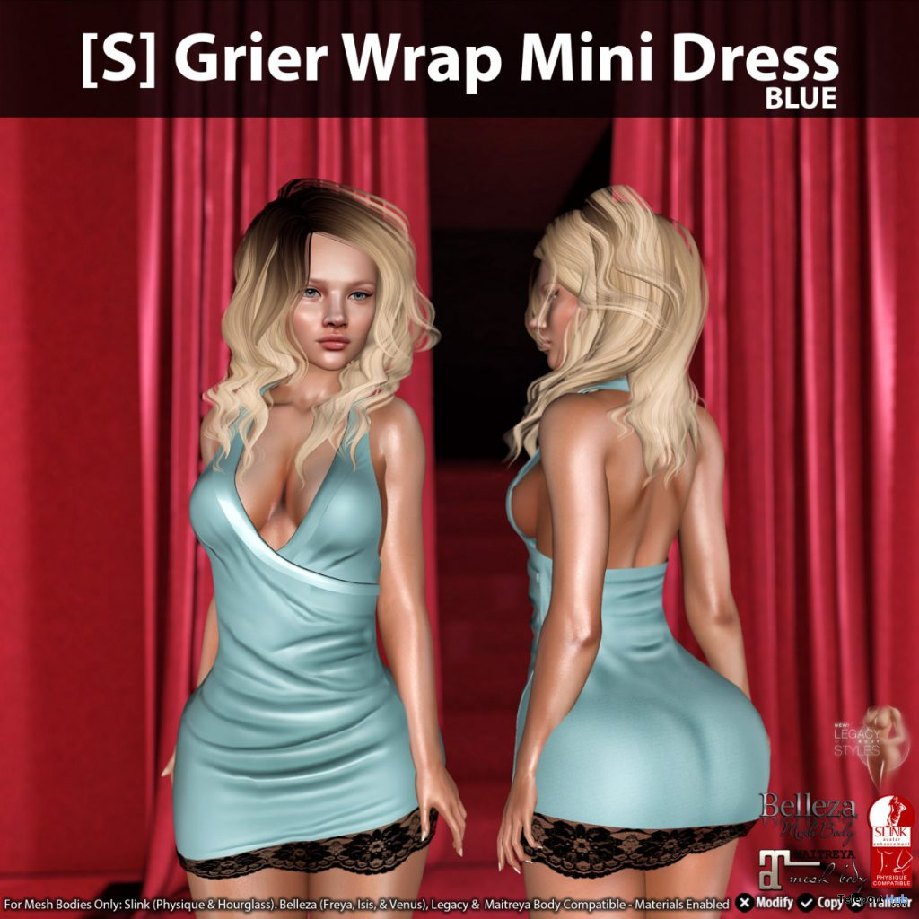 New Release: [S] Grier Wrap Mini Dress by [satus Inc] - Teleport Hub - teleporthub.com
