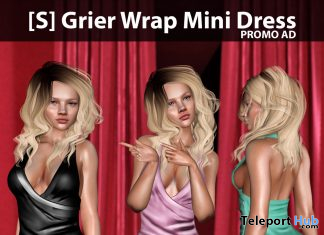 New Release: [S] Grier Wrap Mini Dress by [satus Inc] - Teleport Hub - teleporthub.com