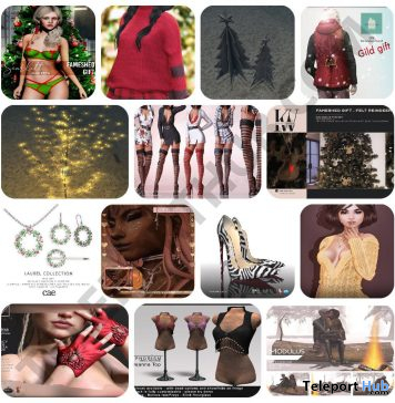 Several Christmas 2019 Group Gifts @ FaMESHed December 2019 by Various Designers - Teleport Hub - teleporthub.com