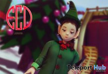 Noel Elf Full Avatar & Champagne Bottle Christmas 2019 Group Gift by E-Clipse Design - Teleport Hub - teleporthub.com