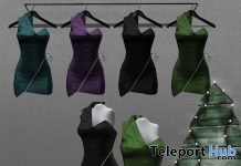 New Release: Demi Dress by Valentina E. @ Shiny Shabby December 2019 - Teleport Hub - teleporthub.com