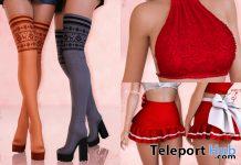 Xmas Fur Top, Skirt & Boots Christmas 2019 Group Gift by Safira - Teleport Hub - teleporthub.com