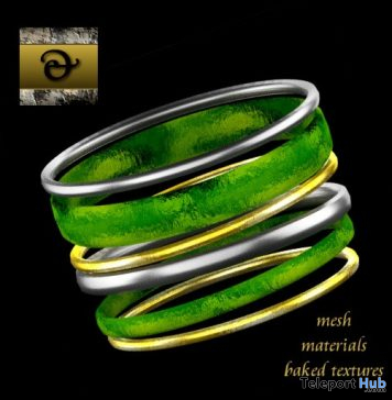 Holiday Bangles Emerald December 2019 Gift by Metal and Stone - Teleport Hub - teleporthub.com