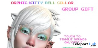 Kitty Bell Collar December 2019 Group Gift by !Orphic! - Teleport Hub - teleporthub.com