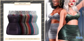 Avis Dress Fatpack December 2019 Group Gift by Miss Chelsea - Teleport Hub - teleporthub.com