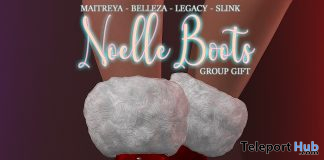 Noelle Boots December 2019 Group Gift by Pink Charcoal - Teleport Hub - teleporthub.com