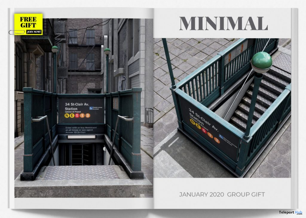 Subway Entrance January 2020 Group Gift by MINIMAL - Teleport Hub - teleporthub.com