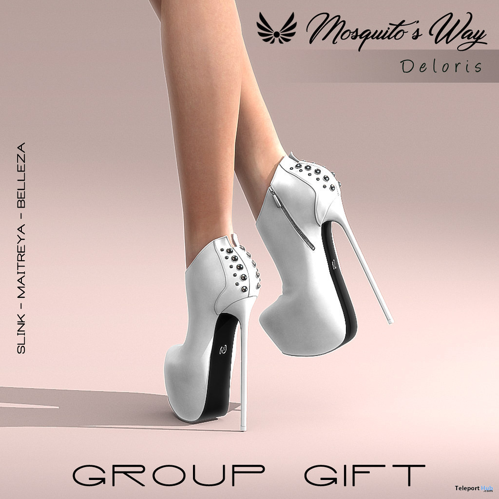 Deloris Heels January 2020 Group Gift by Mosquito's Way - Teleport Hub - teleporthub.com