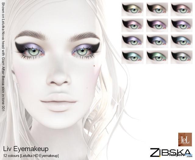 Liv Eyemakeup January 2020 Gift by Zibska - Teleport Hub - teleporthub.com