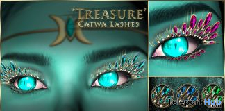 Treasure Lashes For Catwa Mesh Head January 2020 Group Gift by Elemental - Teleport Hub - teleporthub.com