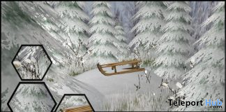 Sleigh Backdrop FlashShot Event January 2020 Group Gift by Joplino - Teleport Hub - teleporthub.com