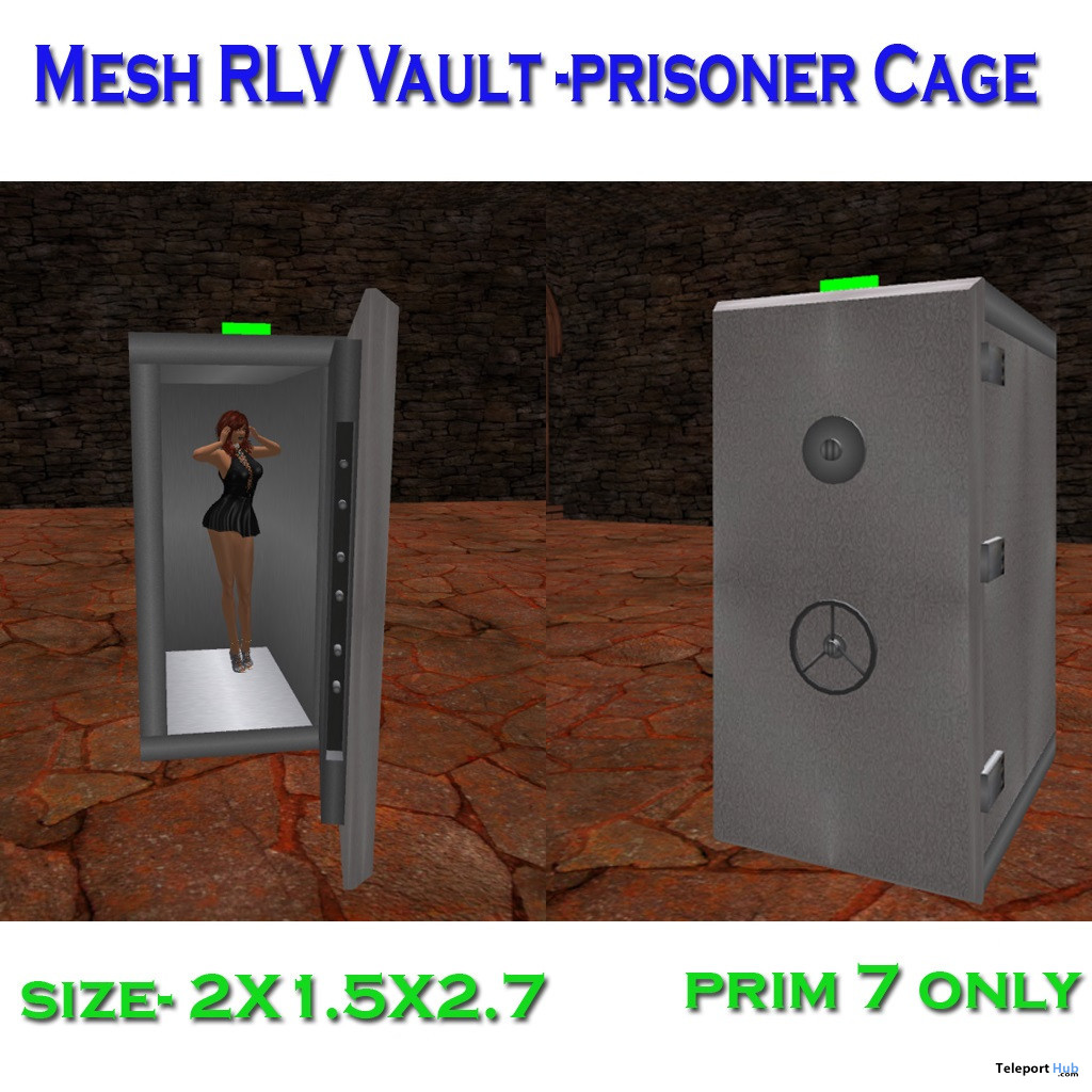 Mesh RLV Vault Cage January 2020 Group Gift by Carissa Designs - Teleport Hub - teleporthub.com