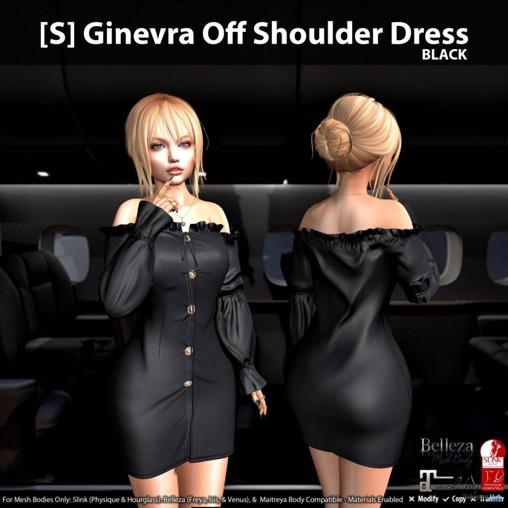 New Release: [S] Ginevra Off Shoulder Dress by [satus Inc] - Teleport Hub - teleporthub.com