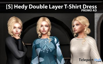 New Release: [S] Hedy Double Layer T-Shirt Dress by [satus Inc] - Teleport Hub - teleporthub.com