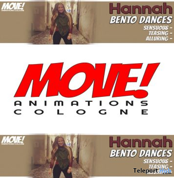 New Release: Hannah Bento Dance Pack by MOVE! Animations Cologne - Teleport Hub - teleporthub.com