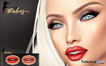 Rosa Lipsticks 4x Shades For Lelutka Evolution Mesh Heads 5L Promo by Lacey Babes - Teleport Hub - teleporthub.com