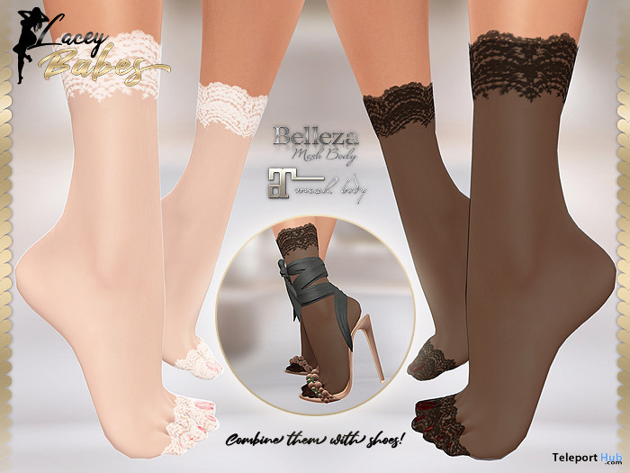 Krissy Ankle Lace Socks 1L Promo Gift by LACEY BABES - Teleport Hub - teleporthub.com