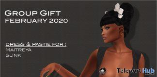 Deep Cleavage Cut Dress February 2020 Group Gift by Selene Creations - Teleport Hub - teleporthub.com