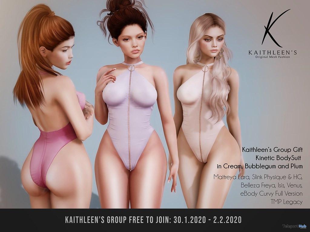 Kinetic BodySuit February 2020 Group Gift by Kaithleen's - Teleport Hub - teleporthub.com