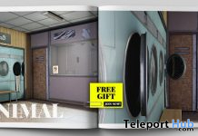 Launderette Backdrop February 2020 Group Gift by MINIMAL - Teleport Hub - teleporthub.com