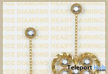 Diamond Heart Earrings February 2020 Group Gift by VO.Z - Teleport Hub - teleporthub.com