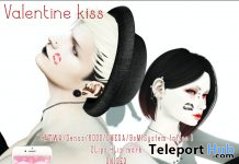 Unisex Face Kiss Tattoo Black & Red February 2020 Gift by Oola Messia - Teleport Hub - teleporthub.com