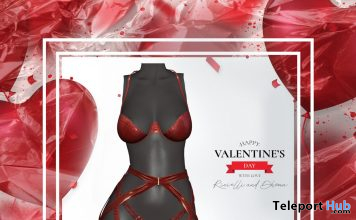 Lyanna Lingerie Red February 2020 Gift by Dhoma - Teleport Hub - teleporthub.com