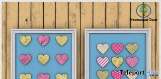 SueSue Hearts Frames Set February 2020 Group Gift by Dreamscapes Art Gallery - Teleport Hub - teleporthub.com