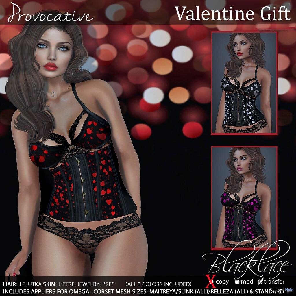 Hearts Lingerie February 2020 Gift by Blacklace - Teleport Hub - teleporthub.com