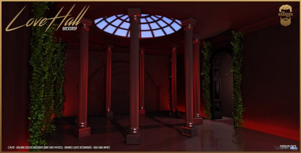 Hall of Love Backdrop February 2020 Group Gift by The Bearded Guy - Teleport Hub - teleporthub.com