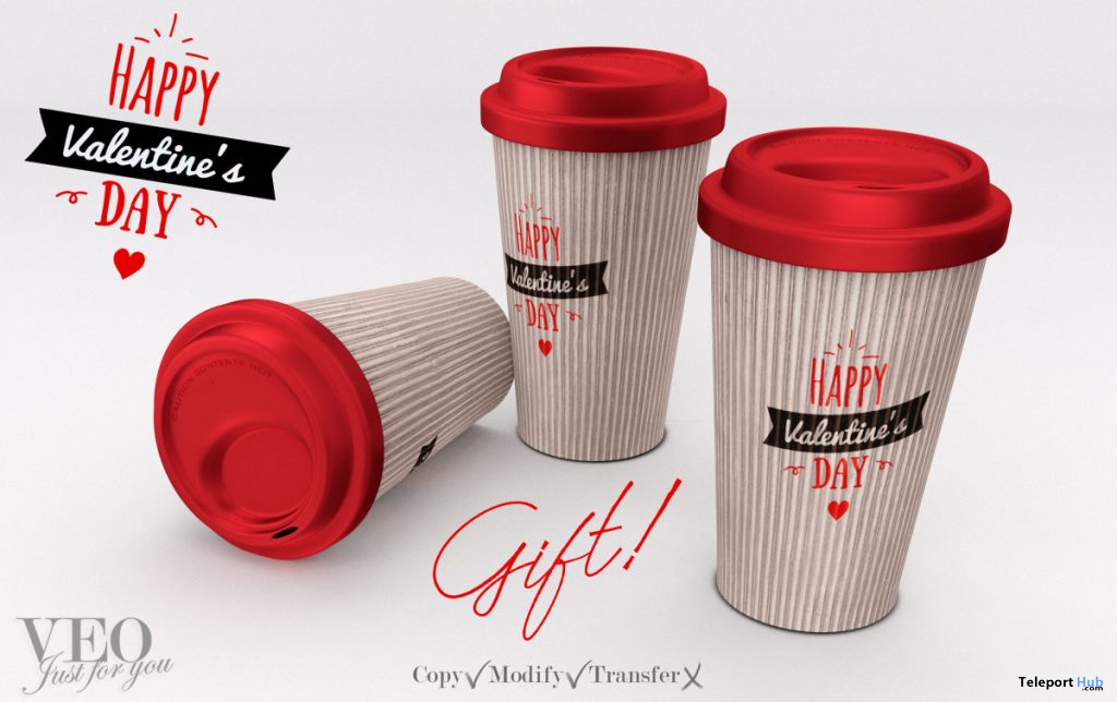 Coffee Cup Valentines Day February 2020 Gift by VEO - Teleport Hub - teleporthub.com