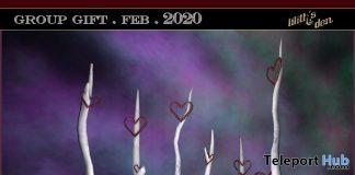 Heart Sticks February 2020 Group Gift by Lilith's Den - Teleport Hub - teleporthub.com