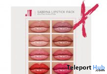 Sabrina Lipstick Pack For Lelutka Evolution Heads February 2020 Gift by Colivati - Teleport Hub - teleporthub.com