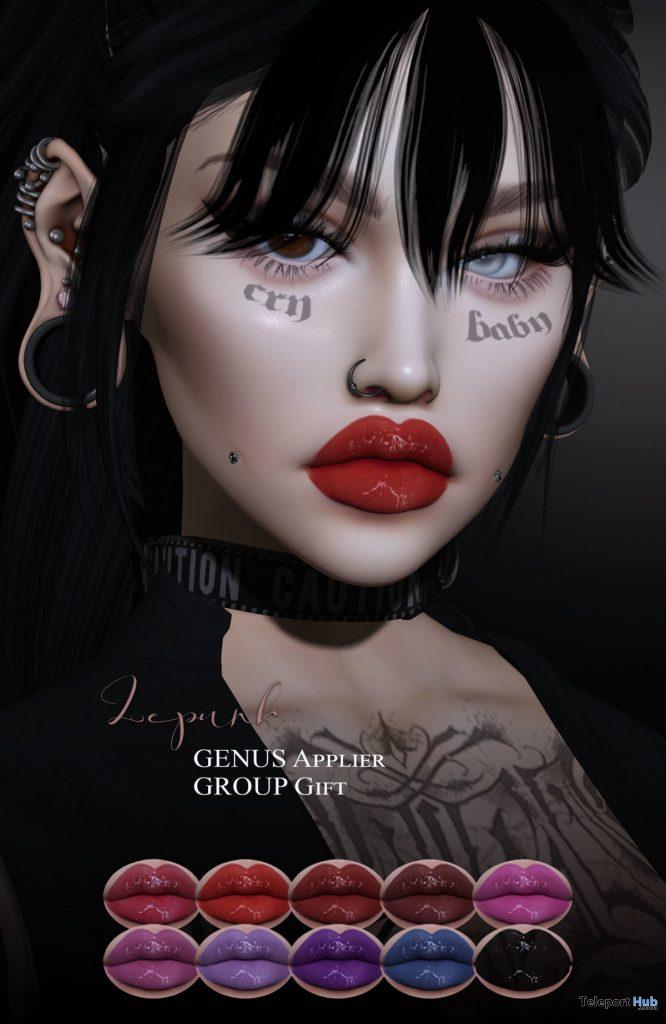 Irina Lipstick For Genus Mesh Head February 2020 Group Gift by LePunk - Teleport Hub - teleporthub.com