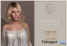 Harper V2 Hair Fatpack February 2020 Group Gift by MINA - Teleport Hub - teleporthub.com