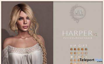 Harper V2 Hair Fatpack February 2020 Group Gift by MINA - Teleport Hub - teleporthub.com