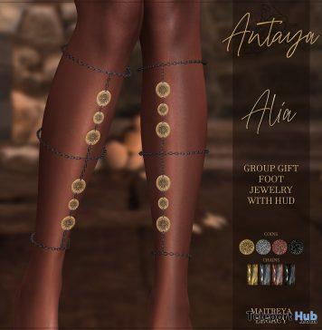 Alia Foot Jewelry February 2020 Group Gift by ANTAYA - Teleport Hub - teleporthub.com