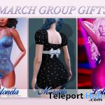 Antonela Lingerie, Lotta Dress, & Morado Dress March 2020 Group Gift by MAAI - Teleport Hub - teleporthub.com