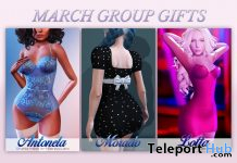 Antonela Lingerie, Lotta Dress, & Morado Dress March 2020 Group Gift by MAAI - Teleport Hub - teleporthub.com